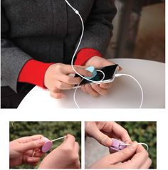 Stacy Teet | Round Earphone Winder by MochThings on Luvocracy