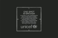 UNICEF One Shot - a print and outdoor advertising campaign from UNICEF Chile tackling cyber bullying among teenagers.