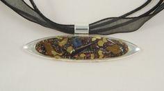 Collier oeil de protection, résine, copeaux, sodalite, oeil de tigre, tourmaline @long-nathalie : Collier par long-nathalie