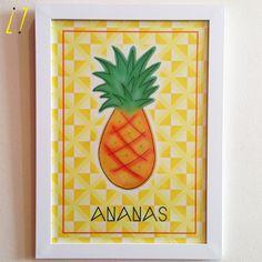 Quadro Ananas Pôster + Moldura