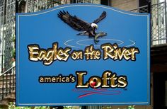Eagles on the River Sign | Danthonia Designs
