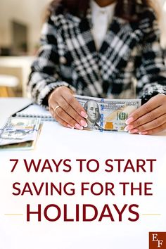 7 Ways to Start Saving for the Holidays | Everything Finance Setting Up A Budget, Budget Holidays, Longing For You, Make A Plan, Finance Blog, Savings Plan, Lists To Make, Christmas Shopping, Trip Planning