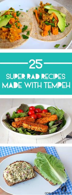 25 Super-Rad Recipes Made With Tempeh recipes recipeoftheday easy eat recipe eat food fashion diy decor dresses drinks Tofu Recipes, Whole Food Recipes, Vegetarian Recipes, Cooking Recipes, Healthy Recipes, Healthy Meals, Cooking Tips, Healthy Food, Vegan Main Dishes