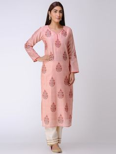 Salwar Designs, Pastel Pink, Indian Wear, Cold Shoulder Dress, Printed, Lady, Casual, Fabric, Cotton