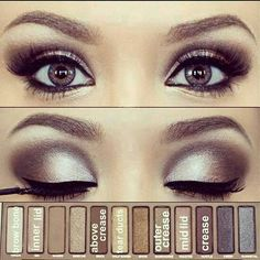 Smokey eyes in a cool taupe