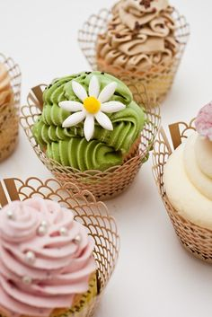 Cupcakes created by CIA Chef Migoya who serves as the executive pastry chef and instructor in our college's student staffed Apple Pie Bakery Café at The Culinary Institute of America