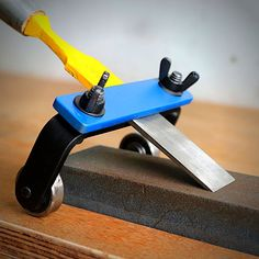 A chisel sharpening jig is often used to sharpening woodworking tools. Many of the tools used in woodworking have steel blades which are sharpened to a fine edge.