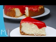 New York cheesecake Thermomix Desserts, No Bake Desserts, What Is For Dinner, Cake Videos, Bakery, Favorite Recipes, Sweet, Homemade Cheesecake, Classic Cheesecake
