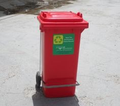 """09958229993 - KC Green Revolution Pvt ltd is the First ever manufacturer of India who produce Wheelie Pedal Bin 55L by injection molding in India. Our Bin is at international quality standards. It is a round shape bin with 17"""" dia and 24"""" height, it is available in Green, Red, Blue, Black, Yellow and grey colors, we can customize the colors as per customers' requirements. This can be used in hospitals for Bio Medical waste, in Hotel kitchens, also available in 120L"""