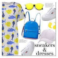 """Sneakers and Dresses"" by fshionme ❤ liked on Polyvore featuring Lauren Ralph Lauren, Warehouse, vintage, festivalfashion and SNEAKERSANDDRESSES"