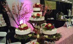 wedding cake on a tree stand