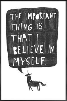 Believe as Poster in Standard Frame by typealive | JUNIQE UK