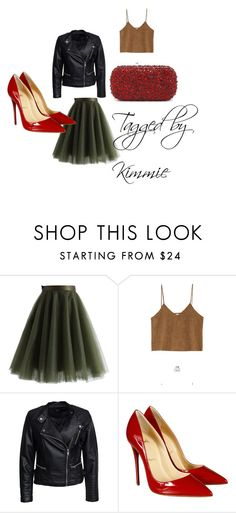 """""""LVS and Rubies!!!!!"""" by taggedbykimmie15 on Polyvore featuring Chicwish, Goroke, Sisters Point, Christian Louboutin and Alice + Olivia"""