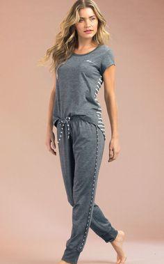 Pajama Outfits, Casual Outfits, Fashion Outfits, Pijamas Women, Cute Pajama Sets, Cute Sleepwear, Quoi Porter, Casual Jumpsuit, Stylish Dresses