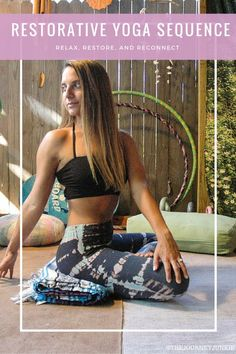 Yoga Sequence to Relax, Restore and Reconnect Restorative Yoga Practice - Pin now, practice later!Restorative Yoga Practice - Pin now, practice later! Ashtanga Yoga, Vinyasa Yoga, Restorative Yoga Sequence, Yoga Bewegungen, Yoga Handstand, Yoga Moves, Yoga Sequences, Yoga Workouts, Yoga Flow