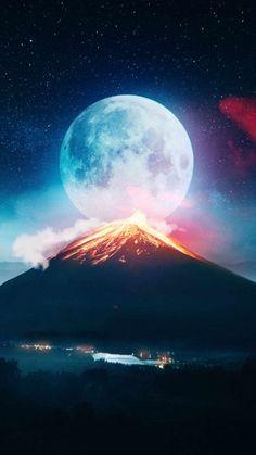 Volcanic Moon IPhone Wallpaper - IPhone Wallpapers