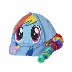 One Size Fits Most Youth Girls (Manufacturers Age: Light Blue My Little Pony baseball cap Hat features attached faux ponytail & elastic back; Little Girl Toys, Cool Toys For Girls, Baby Girl Toys, Little Girls, My Little Pony Backpack, My Little Pony Dress, My Little Pony Party, My Little Pony Bedroom, Kids Toy Shop
