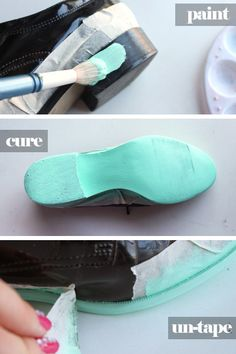 Color painted shoe soles