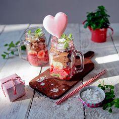 More on FB:spektrumsmaku Valentine Treats, Valentine Day Gifts, Valentines, Mason Jars, Cheese, Tableware, Sweet, Food, Behance