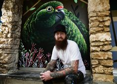 An eye-catching mural has been painted at Perth Zoo to raise awareness of the critically endangered Western Ground Parrot: