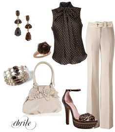 """""""Coffee N Cream"""" by cbrile on Polyvore"""