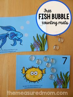 These ocean themed counting mats are a great one to one correspondence activity for preschool!