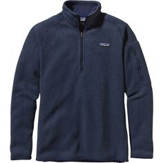Patagonia Better Sweater 1/4-Zip Fleece Jacket ($79) ❤ liked on Polyvore featuring patagonia