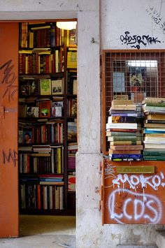 Bookshop in Lisbon, June 2012  by fabiolug, via Flickr