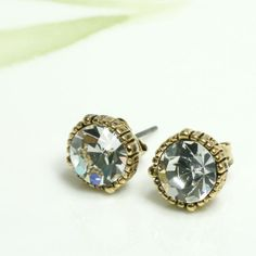 Vintage style mini faceted stud earrings/choose your by laonato, $10.50