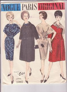 Vogue Paris Original Sewing Patterns | Vogue 1085 - Vintage Sewing Patterns
