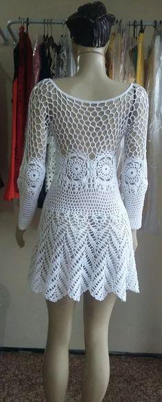 Vestido Em Crochê - R$ 150,00
