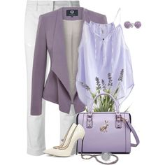 Lavender by lisa-holt on Polyvore featuring Humanoid, Viyella, Dolce&Gabbana, Casadei, MBaoBao, Bling Jewelry, Fiorelli and OKA