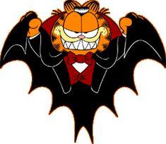 gifs, gifs animados, glitters, glitter, gif - do garfield a&e Disney Halloween, Garfield Halloween, Halloween Cartoons, Halloween Boo, Holidays Halloween, Halloween Crafts, Garfield Cartoon, Garfield And Odie, Garfield Comics