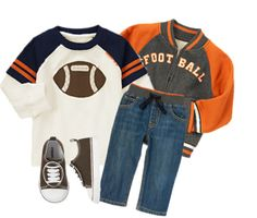 Baby or Toddler Boy Outfit - Junior Linebacker - Get an extra 40% off this outfit from now until Monday! Sizes 3mos - 5T.