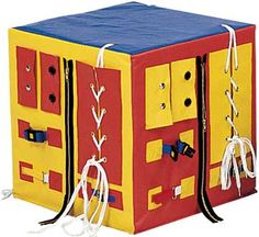Sensory Gym Ideas, DIY- we could drape this over pvc pipe or a table
