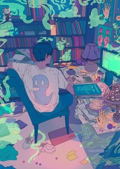 Find images and videos about boy, art and anime on We Heart It - the app to get lost in what you love. Art And Illustration, Character Illustration, Art Illustrations, Kunst Inspo, Art Inspo, Aesthetic Art, Aesthetic Anime, Pretty Art, Cute Art