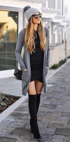 40 Comfy Winter Fashion Outfits for Women in This Year - - Source by knee high boots outfit Winter Fashion Outfits, Fall Winter Outfits, Look Fashion, Trendy Fashion, Autumn Fashion, Womens Fashion, Casual Winter, Winter Clothes, Dress Winter