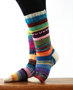 Awesome Scrappy Socks (Tanis Fiber Arts) - if someone wants to get me these for Christmas I'll be happy