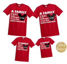 2a815f24 A Family That Disneys Together Stays Together by ShineDesignsTees Disneyland  Family Shirts, Family Vacation Shirts