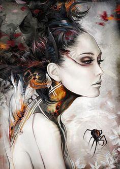 BLACK WIDOW by *Yayashin on deviantART