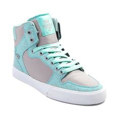 Shop for Womens Supra Vaider High Skate Shoe in Mint Gray at Journeys Shoes. Shop today for the hottest brands in mens shoes and womens shoes at Journeys.com.High top skate shoe from Supra featuring a vulcanized outsole, sliding tongue logo, high memory polyurethane insole, ankle support, leather liner, and SupraFoam midsole providing entire foot impact resistance and optimal shoe flex. Only available at Journeys and SHI, this exclusive edition Vaider High features a two tone mintgray ...