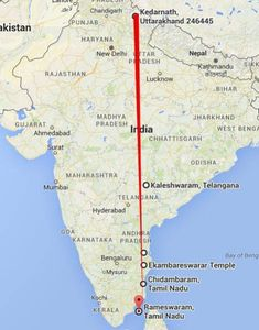 Siva temples from Kedarnath till Rameswaram with Kaleshwaram, Sri Kalahasti, Kanchipuram, Chidambaram aligned in a geographic straight line at E India World Map, India Map, Temple India, Indian Temple, Indian Flag, Gernal Knowledge, General Knowledge Facts, Shiva Lord Wallpapers, Hindu Culture