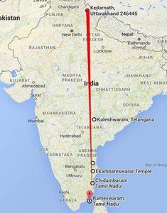 Siva temples from Kedarnath till Rameswaram with Kaleshwaram, Sri Kalahasti, Kanchipuram, Chidambaram aligned in a geographic straight line at E India World Map, India Map, Kailasa Temple Ellora, Indian Temple Architecture, Temple India, Shiva Lord Wallpapers, Hindu Culture, India Facts, Nataraja