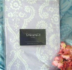 - TAHARI - Fabric Shower Sweet Lilac and White Paisley Curtain Poly/Cotton Blend   eBay