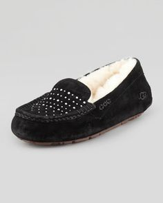 Ainsley+Bling+Suede+Slipper,+Black+by+UGG+Australia+at+Neiman+Marcus. Gifts 2014