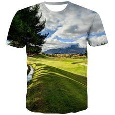 Golf T Shirts, 3d T Shirts, T Shirt Printer, City Streets, Exterior Colors, Fashion Prints, Cool Stuff, Casual, Mens Tops