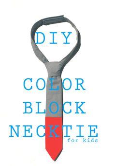 Bringing Home: DIY color block necktie with free PDF pattern //petitapetitandfamily.com