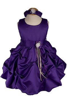 AMJ Dresses Inc Baby-girls Purple Flower Girl Party Dress Sizes S to 4t  Sale:	$34.99