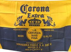 NEOPlex 3' x 5' Corona Extra Blue and Gold Beer Flag by NEOPlex. $19.95. This 3 x 5 foot business message advertising flag is made from super polyester that is durable, yet lightweight enough to fly in even the lightest breeze. It has 2 brass grommets firmly attached to heavy canvas on the inner fly side. Bright, vivid colors and colorfast to reduce fading. Many titles to choose from.
