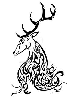 Kashmir Stag Awareness Tribal by Friend-Owl on DeviantArt
